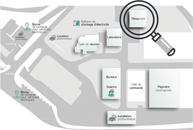 Plan d'accès showroom MADIN'TECH